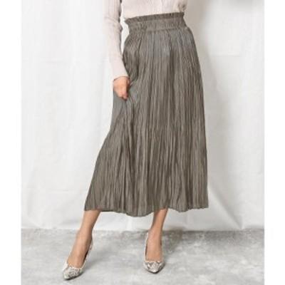 アナップ(ANAP)/シャイニーフィラメントサテンプリーツスカート