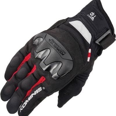 コミネ (Komine) バイク用 グローブ Gloves GK-220 プロテクトメッシュグローブ ブラック レッド 黒 赤 2XLサイズ 06-220/BK/RD/2XL