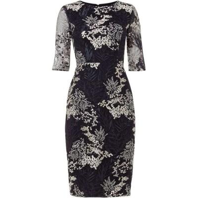 フェーズ エイト Phase Eight レディース ワンピース ワンピース・ドレス Fern Embroidered Dress Navy