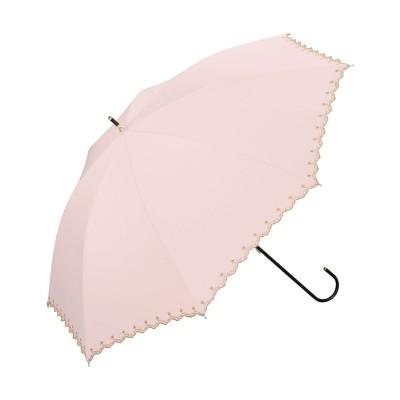 ダブルピーシー Wpc. 日傘 遮光星柄スカラップ (ピンク)