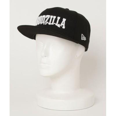 NEUVE A / NEW ERA × GODZILLA ニューエラ×ゴジラ 59FIFTY GODZILLA BLACK/WHITE 12719492-1/4 MEN 帽子 > キャップ
