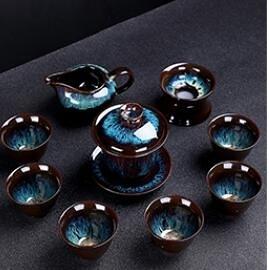 茶杯陶瓷功夫茶具套裝家用整套泡茶盞杯窯變茶壺簡約茶碗辦公 【韓語空間】