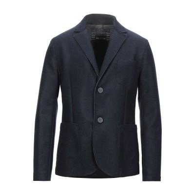 ERIC HATTON テーラードジャケット ダークブルー 48 ウール 70% / ポリエステル 30% テーラードジャケット