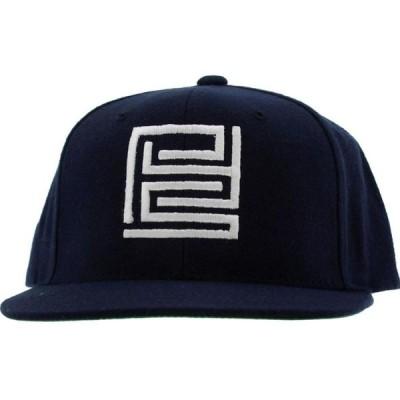 PYS メンズ 帽子 キャップ PYS Block Logo Snapback Caps - White