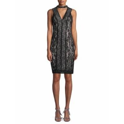 カールラガーフェルド レディース ワンピース Lace Choker Sheath Dress