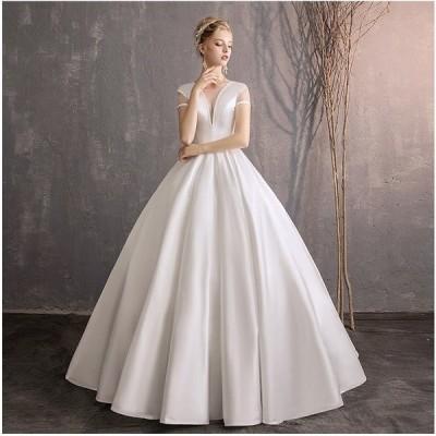 ウェディングドレス 花嫁 ウエディングドレス 白 安い ブライダル wedding dress 結婚式 プリンセスラインドレス 二次会 パーティード 格安 大きいサイズ
