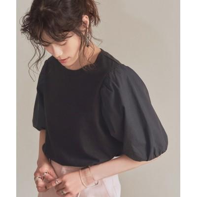 titivate / 異素材ドッキングバルーンスリーブトップス WOMEN トップス > Tシャツ/カットソー