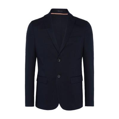 8 by YOOX テーラードジャケット ダークブルー 52 コットン 97% / ポリウレタン 3% テーラードジャケット