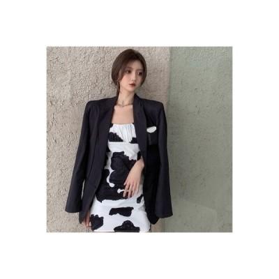 【送料無料】セット 年 女 韓国風 ウエスタンブラック カラー ブレザー 紋 ハーネ | 364331_A63760-1497814