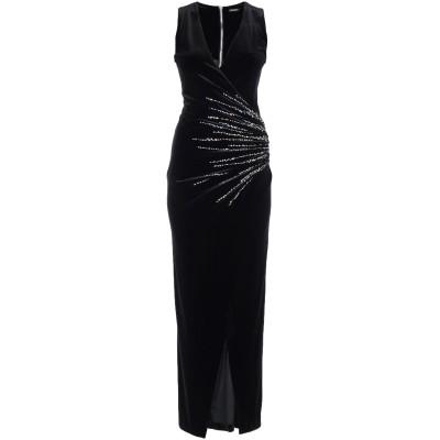 バルマン BALMAIN ロングワンピース&ドレス ブラック 38 ポリエステル 92% / ポリウレタン 8% ロングワンピース&ドレス