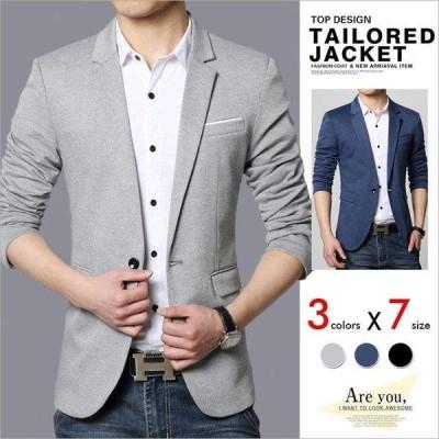 テーラードジャケット メンズ スーツ ブレザー コート ビジネススーツ ショート ジャケット カジュアル ビジネス スリム アウター