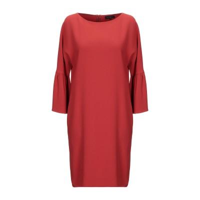 ANTONELLI ミニワンピース&ドレス 赤茶色 40 レーヨン 70% / アセテート 26% / ポリウレタン 4% ミニワンピース&ドレス