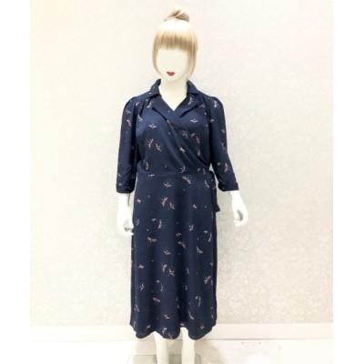 Collectif 【Collectif】TERESA FIREFLIES WRAP DRESS ネイビー 14(13号)