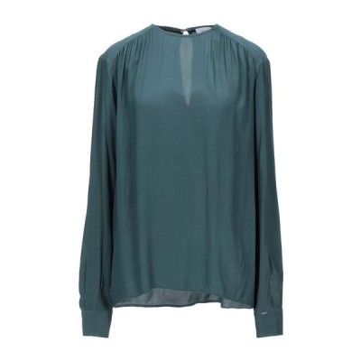 Calvin Klein カルバンクライン ブラウス ファッション  レディースファッション  トップス  シャツ、ブラウス  長袖 ディープジェード