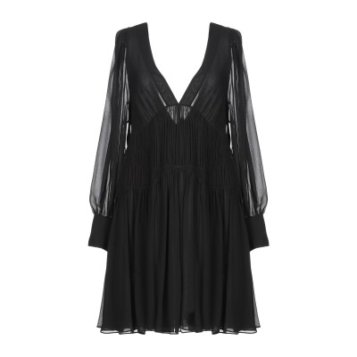 ステラ マッカートニー STELLA McCARTNEY ミニワンピース&ドレス ブラック 36 シルク 100% ミニワンピース&ドレス