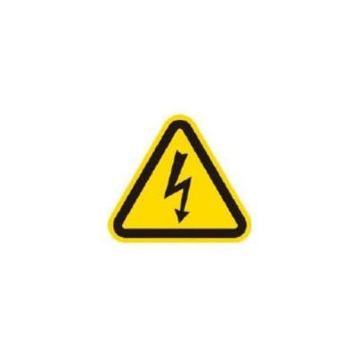 AIMARK/アイマーク  三角ラベル電気危険 25mm(一辺の長さ) AT2-S
