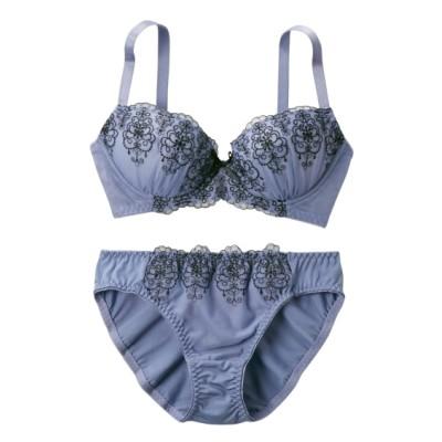 ジオメトリック柄 ブラジャー。ショーツセット(C80/L) (ブラジャー&ショーツセット)Bras & Panties