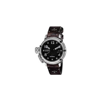 U-Boat Chimera 925 Automatic Watch, Silver .925, Black, 43 mm, 50 atm, 7233 並行輸入品