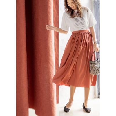 【スタイルデリ/STYLE DELI】 【Made in JAPAN】エアリースエードギャザースカート