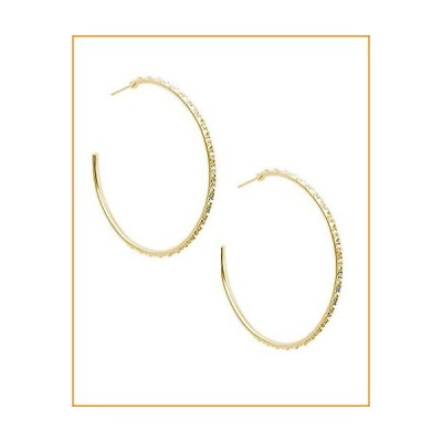 Kendra Scott Val Hoop Earrings for Women, Fashion Jewelry, 14K Gold-Plated, Iridescent Crystal【並行輸入品】