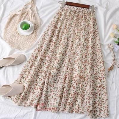 小花柄ロングスカート レディース スカート 大人可愛い 花柄スカート オシャレ かわいい デート 小花柄 おでかけ 花柄ロングスカート フラワー ロングスカート