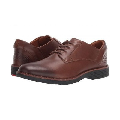 KIZIK メンズ 男性用 シューズ 靴 オックスフォード 紳士靴 通勤靴 London Hands Free - Medium Brown