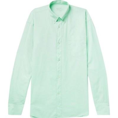 ドリス ヴァン ノッテン DRIES VAN NOTEN メンズ シャツ トップス solid color shirt Light green