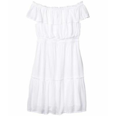 トッミーバハマ レディース ワンピース トップス Caicos Crinkle Off-the-Shoulder Short Dress White