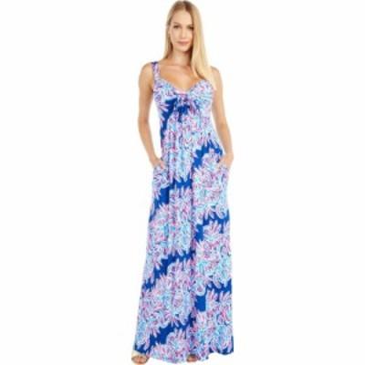 リリーピュリッツァー Lilly Pulitzer レディース ワンピース マキシ丈 ワンピース・ドレス Maui Maxi Dress Oyster Bay Blue Miss Shell