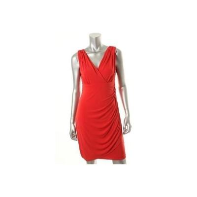 ドレス 女性  アルファーニ Alfani 8691 レディース レッド Matte Jersey Knee-Length Party Cocktail ドレス 10
