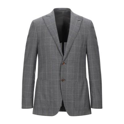 カルーゾ CARUSO テーラードジャケット グレー 48 ウール 100% テーラードジャケット