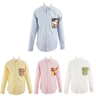 (新作SALE) LAUNCH BASIC TRADEラウンチ・ベーシック・トレードOXFORD FLAP POCKET SHIRTSオックスフォードフラップポケット付きシャツ