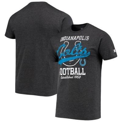 スターター メンズ Tシャツ トップス Indianapolis Colts Starter Blitz T-Shirt