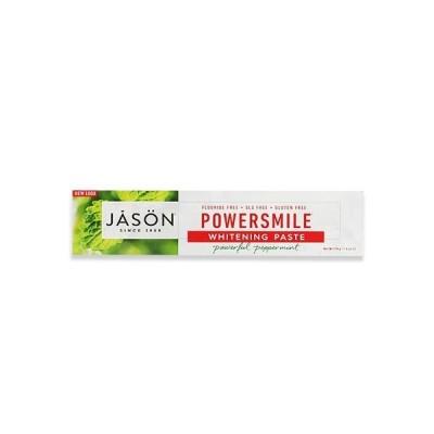 Jason Natural パワースマイル ホワイトニング 歯磨き粉 パワフルペパーミント 170g(6oz)ジェイソンナチュラル