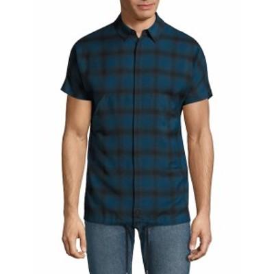 ヘルムートラング メンズ カジュアル ボタンダウンシャツ Cotton Short Sleeve Shirt