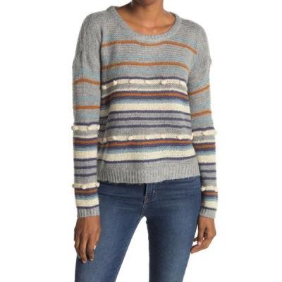 ハートルーム レディース ニット&セーター アウター Stripe Relaxed Fit Knit Sweater HEATHER