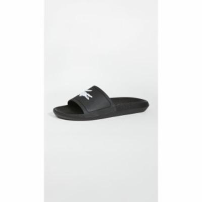 ラコステ Lacoste メンズ サンダル シューズ・靴 croco slides Black/White
