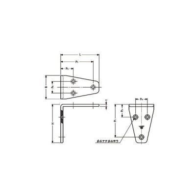 ステンレス鋼製アングル 鏡面仕上 スガツネ(LAMP) SV-40M 120-030-056