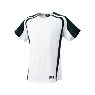 エスエスケイ 1ボタンプレゲームシャツ SSK-BW0906 (1090)ホワイト×ブラック