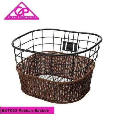 GIZA ギザ BASKET バスケット BKT063 Rttan Basket 籐風バスケット ブラック(BKT06300)(4935012312192)