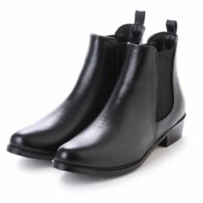 レディース サイドゴアレインブーツ ショート スラッシュブーツ シック 雨 梅雨 靴 レインシューズ ブラック ブラウン S M L【送料無料】