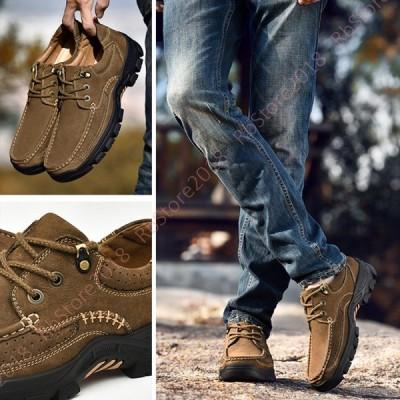 高機能 ウォーキングシューズ メンズ 防水 登山靴 トレッキング スニーカー 本革 幅広 コンフォートシューズ ローカット アウトドア ビジネス 快適 かっこいい