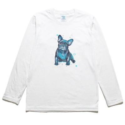 フレンチブルドッグ 動物・生き物 長袖Tシャツ ロングスリーブ