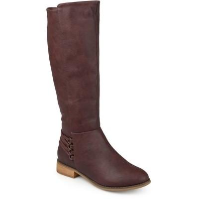 ジャーニーコレクション ブーツ&レインブーツ シューズ レディース Women's Wide Calf Marcel Boot Wine