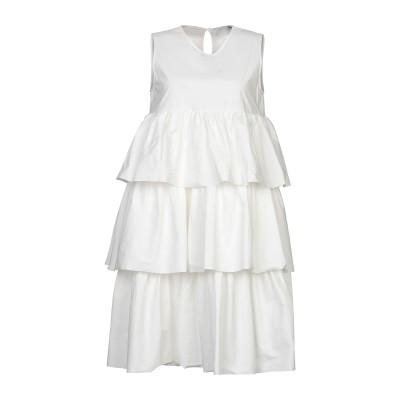 DOUUOD ミニワンピース&ドレス ホワイト 42 コットン 92% / 天然樹脂 8% ミニワンピース&ドレス