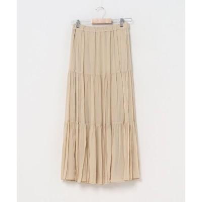 スカート ワッシャープリーツスカート