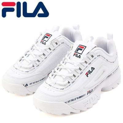 FILA スニーカー ディスラプター2 ニューテイピーテープ フィラ 厚底 ホワイト F05810100
