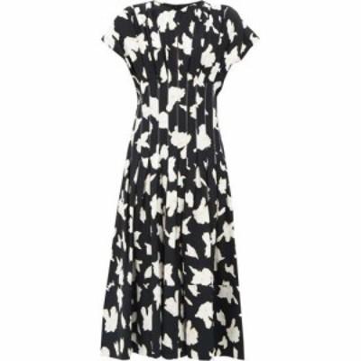 プロエンザ スクーラー Proenza Schouler レディース ワンピース ワンピース・ドレス Pintucked-waist pleated floral-print crepe dress
