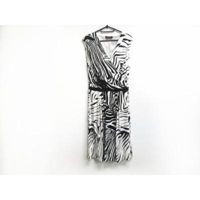 マックスマーラスタジオ Max Mara STUDIO ワンピース サイズXL レディース 美品 アイボリー×黒 ゼブラ柄【還元祭対象】【中古】20200909