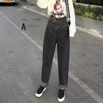 レディース パンツ ジーンズ テーパード ゆったり ジーパン 大きいサイズ デニムパンツ ロングパンツ ボトムス ズボン 韓国風 春夏新作 着痩せ 20代 30代 40代